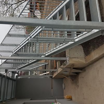 Verzinkte Stahltreppe