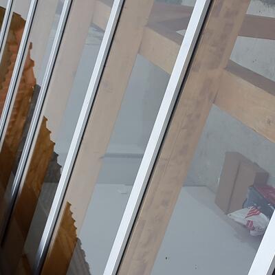Vordach Verglasung